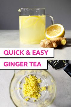 An easy way to make ginger tea with lemon and honey to warm up during the chillier months. Give your immune system a boost with this infusion. Ginger Lemon Honey Tea, Homemade Ginger Tea, Ginger Root Tea, Fresh Ginger, Hot Tea Recipes, Milk Recipes, Dinner Recipes, Yummy Drinks, Healthy Drinks
