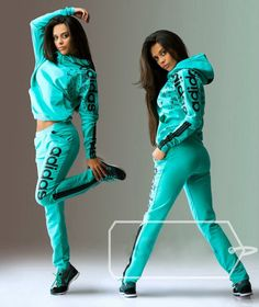#hood #tracksuit Stylish womens mint hooded tracksuit.