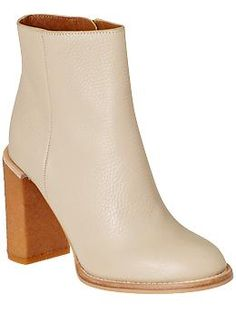 Ivory booties #fallfaves