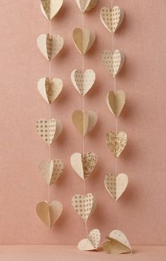 Heart Hangers (You could of course do other shapes as well)