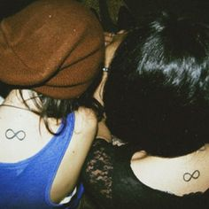 I'm not gonna lie @Ashley Knapp I kinda like the idea of an infinity bff tattoo... (but not this placement... obvi)