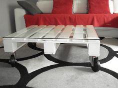 Una mesa práctica y barata. Mesa-palet