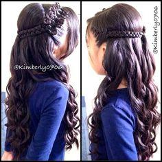 Prim Bow Braid - Hairstyles How To Fancy Hairstyles, Little Girl Hairstyles, Braided Hairstyles, Bow Braid, Braid Hair, Love Hair, Gorgeous Hair, Curly Hair Styles, Natural Hair Styles