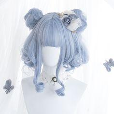 Pelo Lolita, Lolita Hair, Lolita Makeup, Kawaii Hairstyles, Pretty Hairstyles, Wig Hairstyles, Anime Wigs, Anime Hair, Cosplay Hair