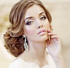 Everything thing is perfect the hair, makeup, jewelry.