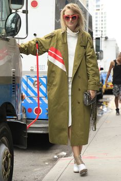 Utility style with a pop of colour spotted on the streets of...