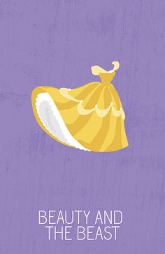 Beauty and the Beast (1991) ~ Minimal Movie Poster by Ryne Abraham ~ Disney Princesses Series