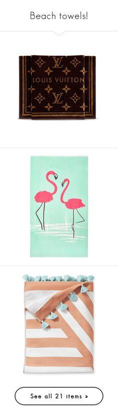 """Beach towels!"" by joanna-tabakou ❤ liked on Polyvore featuring home, bed & bath, bath, beach towels, monogrammed beach towels, jacquard beach towel, pattern beach towel, john lewis, striped beach towels and stripe beach towel"