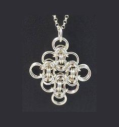 Byzantine Lace Diamond Pendant Sterling Silver