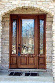 Beautiful 8 Foot Tall Entrance. This Door Is Crafted In Solid Mahogany  Wood. Built