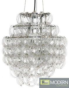 The Letizia Pendant Light by Nuevo Living. 234 crystal hooks altogether to create a bright, stylish lighting experience. $575 #modernpendant #chandelier #pendantlight #modernlighting