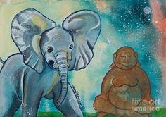 Buddha And Divine Baby Elephant