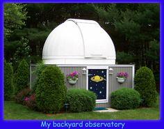 Backyard Observatory - shed observatory - homemade DIY observatory