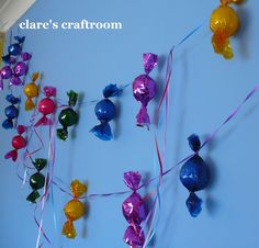 lolly party decorations - ties in decs around whole room or along front of teacher desk