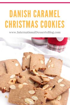 I love these caramel-y, nutty Danish Christmas cookies! Delicious and super easy to make! #christmascookies #danishfood #christmas #christmasrecipes #easyrecipes