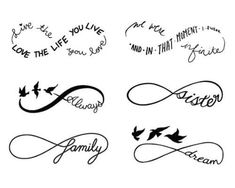 Infinity Symbol Set - Temporary Tattoo (Set of - Tatoo - 12 Tattoos, Mini Tattoos, Love Tattoos, Body Art Tattoos, Tatoos, Tribal Tattoos, Pretty Tattoos, Tattoo Maori, Tattoo Pics