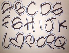 Letra Timoteo #1 - PASO A PASO - YouTube Graffiti Lettering Fonts, Hand Lettering Alphabet, Doodle Lettering, Calligraphy Letters, Brush Lettering, Bubble Letters, Lettering Tutorial, Handwriting Fonts, Alphabet And Numbers