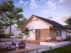 DOM.PL™ - Projekt domu MT Imbir 4 paliwo stałe CE - DOM MS4-69 - gotowy koszt budowy Gazebo, Outdoor Structures, Patio, Outdoor Decor, Design, Home Decor, Tiny House Living, Small Houses, Projects