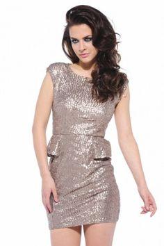Sequin Peplum Pewter Dress Peplum Dress 54a4293ea6