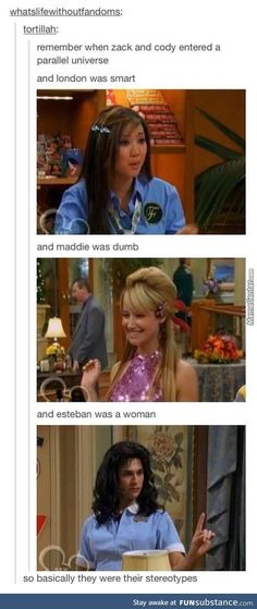 I never thought about it that way. Disney Suite Life of Zack and Cody. Tumblr Funny, Funny Memes, Hilarious, Disney Channel, Disney And Dreamworks, Disney Pixar, Funny Disney, Sprouse Bros, Zack Y Cody