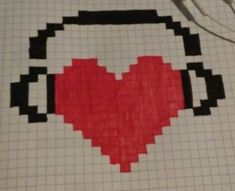 Musiclove - Mine Minecraft World Graph Paper Drawings, Graph Paper Art, Easy Drawings, Pixel Pattern, Pattern Art, Pixel Art Minecraft, Easy Pixel Art, Modele Pixel Art, Pixel Drawing
