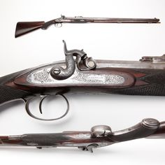 Bentley Percussion Rifle - While Bentley automobiles are today produced in Crewe, England – this .44 caliber Bentley percussion muzzleloader bears Birmingham proof marks.  Likely made around 1850, this British half-stock long gun was reportedly purchased by a Canadian, who employed it for hunting duties in the North. Today, this rifle rests a bit further south at the #NRA National Firearms Museum in Fairfax, Virginia.