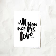 An oldie, but a goodie! Our 'All You Need is Love' print is off to some LOVED UP homes today just in time for Valentine's! 💗...#toowordy #toowordytype #handlettering #moderntype #moderncalligraphy #design #letteringaddict #typography #prints #valentines #valentinesday #valentinesgifts #moderntypography #lettering #handwritten #ink #creativetype  #Regram via @toowordy