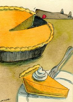 mmm...pie, painting by artist Nicole Wong