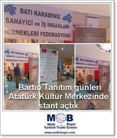 Bartın Tanıtım günleri Atatürk Kültür Merkezinde stant açtık