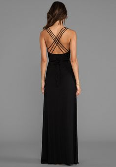 simple black dress suitable for a date or a formal dinner either short or long