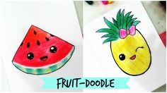 How to draw-Cute Fruit Doodle (Part-2) - YouTube