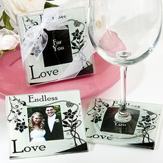 Your wedding day is one of the most important milestones you will celebrate in your life ! So it's only fitting that you would give your guest a momento that reflects your love for each other with the endless love photo coasters. Wedding Party Favors, Wedding Pins, Wedding Reception Decorations, Wedding Trends, Wedding Details, Our Wedding, Dream Wedding, Wedding Stuff, Wedding Styles