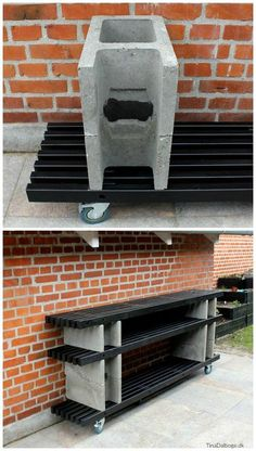 Discover recipes, home ideas, style inspiration and other ideas to try. Backyard Projects, Diy Wood Projects, Garden Furniture, Diy Furniture, Plancha Grill, Brick Bbq, Patio Grill, Outdoor Living, Outdoor Decor