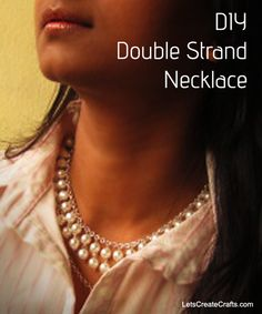 Easy video on how to make a #statement #necklace. #DIY