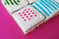 Use Wax Paper Stencils to Make Pretty Patterned Cakes via Brit + Co