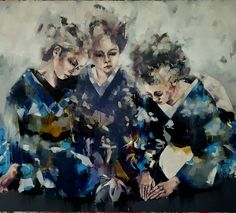Large scale work called 'ritual' and is oils on canvas. A narrative is suggested and was influenced by the aesthetic of early 20century photographs of geisha. #fineart #paintings #oils #largescale #contemporaryart #figures #fashion #kimono #geisha #expressive #creative #inspiration #artoftheday #picoftheday #instaart #artistoninstagram http://ift.tt/2es9akz