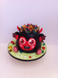 My amazing Moshing Monster Diavlo cake for my beautiful boy xx Monster Cakes, Moshi Monsters, Beautiful Boys, Cake Decorating, Birthday Cake, Amazing, Party, Desserts, Food