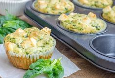 Cheddar spinach muffins might sound a little strange, but once you try this recipe, you'll be adding it to your list of favorites! Cheesy golden muffins are a fantastic breakfast item or even a delightful snack. Breakfast And Brunch, Breakfast On The Go, Low Carb Breakfast, Easy Healthy Breakfast, Healthy Snacks, Breakfast Recipes, Healthy Recipes, Breakfast Ideas, Breakfast Frittata