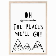 Explore our range of gender neutral nursery prints and posters to style your kids walls. Find nursery quotes, illustrations, abstract, monochrome prints and cheeky characters all in our Scandinavian style. Nursery Themes, Nursery Prints, Nursery Wall Art, Nursery Ideas, Go Theme, Scandinavian Nursery, Nursery Quotes, Outing Quotes, Go For It Quotes