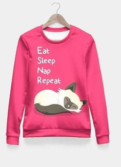 New cheap pet gift uploaded at SketchGrowl: Cat's Life All Over Sweatshirt Cat Lover Gifts, Cat Lovers, Cat Shirts, Printed Sweatshirts, Cotton Sweater, Stylish Girl, Cat Life, Graphic Sweatshirt
