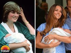 Love this, complete with their polka dot dresses, 31 years apart, introducing their princes