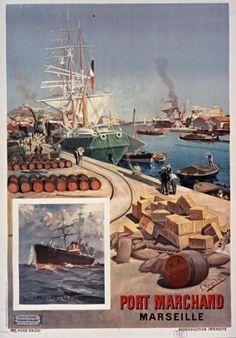 Vintage Marseille #france #PACA #provencal #marseille #tourismepaca #tourismpaca #travel #vintage #poster