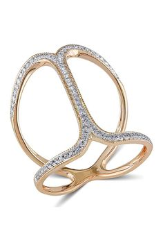 Rose Gold Diamond Outline Ring