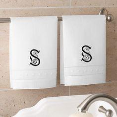 Personalized Linen Guest Towel Set