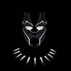 Black Panther minimalist art by @rahalarts