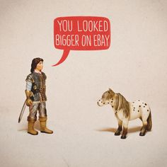 tiny toys, clever captions. never gets old.