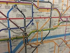 30 year-old tube map uncovered at Embankment station.