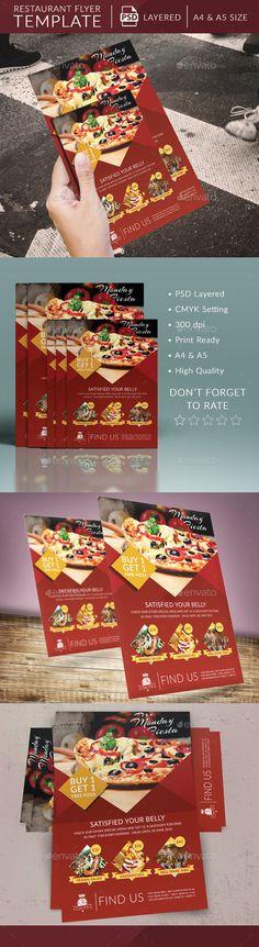 Restaurant Promo Flyer Template | Easy Promotion