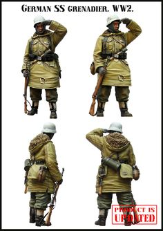 An updated figure from Evolution! More SS Grenadiers at highcalibreminiatures.com