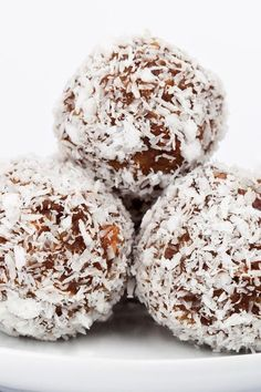 5 Ingredient Coconut Rum Balls Recipe made with Vanilla Wafers, Coconut Flakels, Walnuts, Sweetened Condensed Milk, and Rum - A Perfect Holiday Treat!